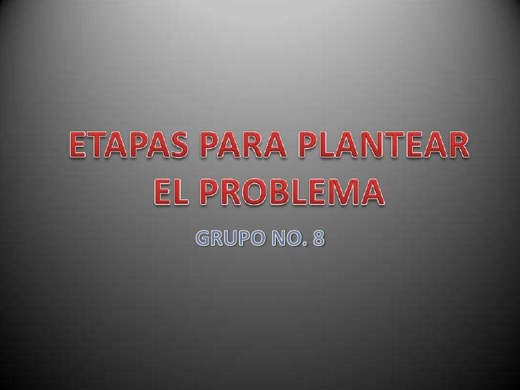 •   Planteamiento del Problema:•   Objetivos, preguntas y justificación:•   Plantear el problema:•   Después de hacer una ...