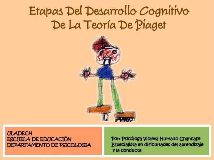 Etapas Del Desarrollo Cognitivo           De La Teoría De Piaget     ULADECH                              Por: Psicóloga V...