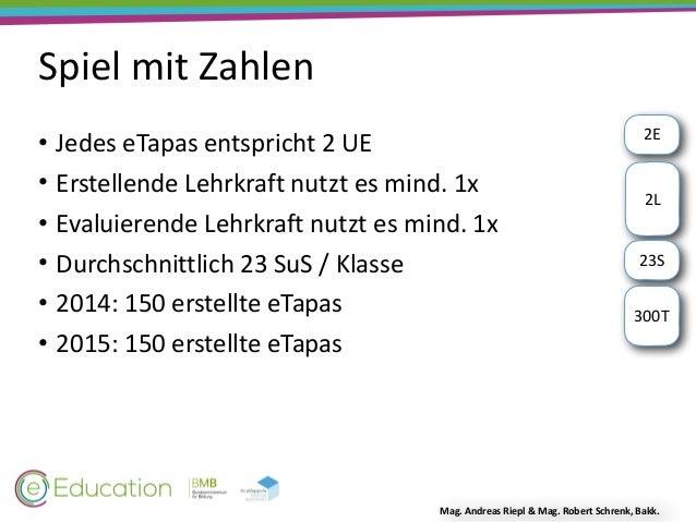 e-Tapas als Instrument der Schulentwicklung Slide 3