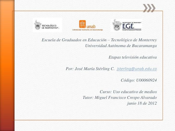 Escuela de Graduados en Educación – Tecnológico de Monterrey                      Universidad Autónoma de Bucaramanga     ...