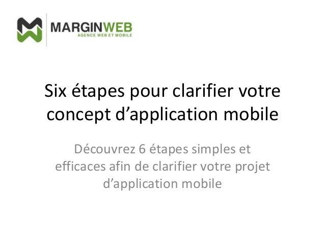 Six étapes pour clarifier votre concept d'application mobile Découvrez 6 étapes simples et efficaces afin de clarifier vot...