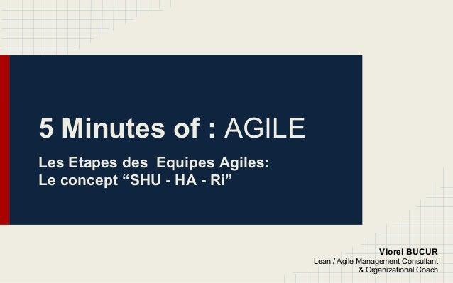 "5 Minutes of : AGILE Les Etapes des Equipes Agiles: Le concept ""SHU - HA - Ri"" Viorel BUCUR Lean / Agile Management Consul..."