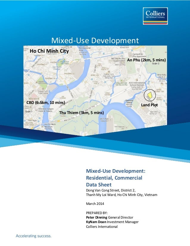Mixed-Use Development Mixed-Use Development: Residential, Commercial Data Sheet Dong Van Cong Street, District 2, Thanh My...