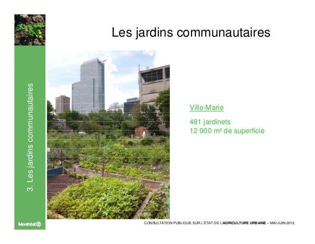 Etat agriculture urbaine arrondissement ville-marie Slide 2