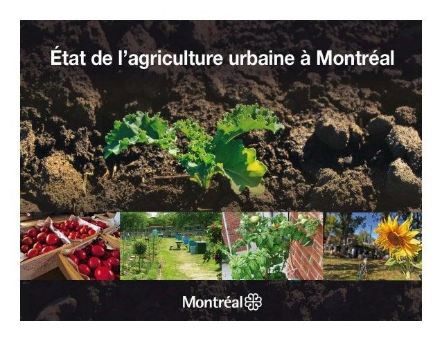 Introduction               CONSULTATION PUBLIQUE SUR L'ÉTAT DE L'AGRICULTURE URBAINE – MAI-JUIN 2012