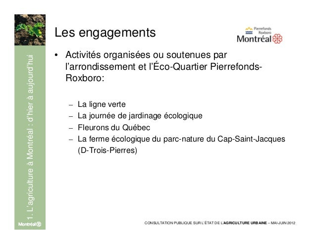 2. L'agriculture périurbaine                               La zone agricole permanente                               • Zon...