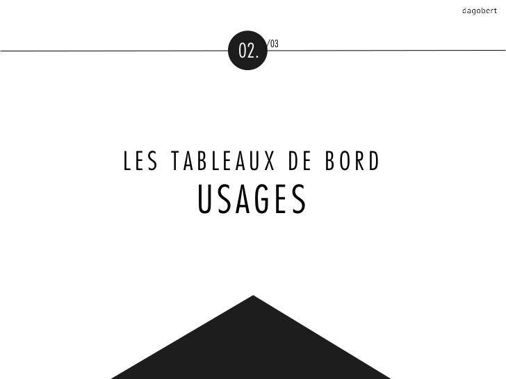 /03         02.LES TABLEAUX DE BORD     USAGES