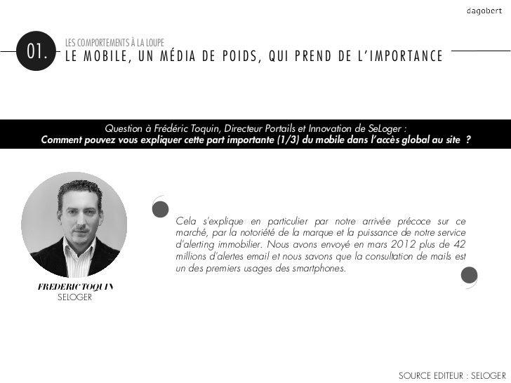 LES COMPORTEMENTS À LA LOUPE01.    LE MOBILE, UN MÉDIA DE POIDS, QUI PREND DE L'IMPORTANCE                                ...