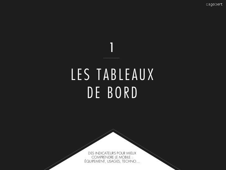 1LES TABLEAUX   DE BORD    DES INDICATEURS POUR MIEUX      COMPRENDRE LE MOBILE :  ÉQUIPEMENT, USAGES, TECHNO…