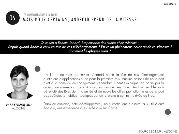 LES COMPORTEMENTS À LA LOUPE 06.      MAIS POUR CERTAINS, ANDROID PREND DE LA VITESSE                                    ...