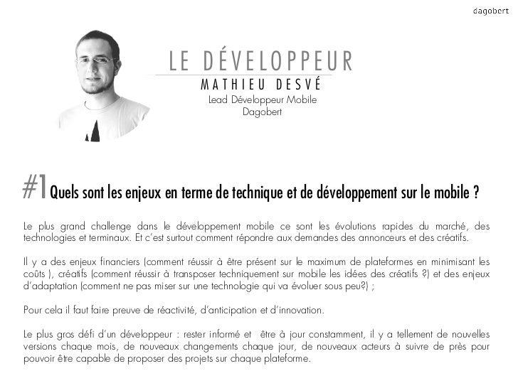 LE DÉVELOPPEUR                                             MATHIEU DESVÉ                                               Lea...