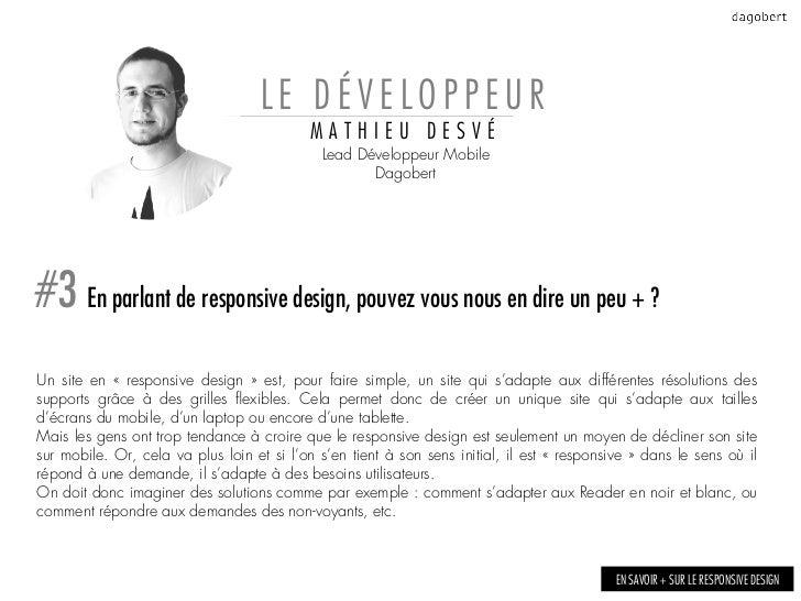 LE DÉVELOPPEUR                                            MATHIEU DESVÉ                                             Lead D...