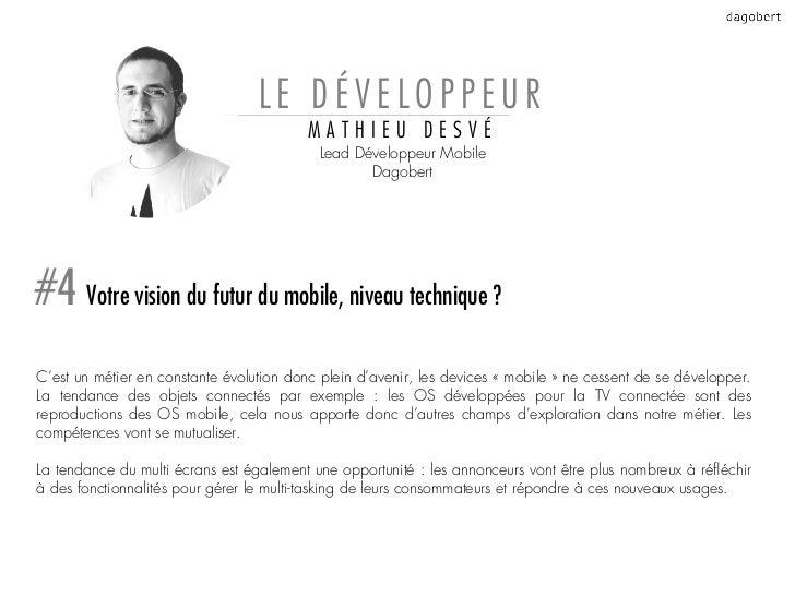 LE DÉVELOPPEUR                                          MATHIEU DESVÉ                                           Lead Dével...