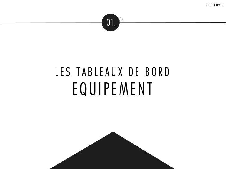/03         01.LES TABLEAUX DE BORD  EQUIPEMENT