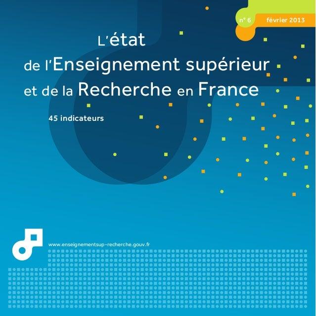 L'étatde l'Enseignement supérieuret de la Recherche en FranceL'étatde l'Enseignement supérieuret de la Recherche en France...