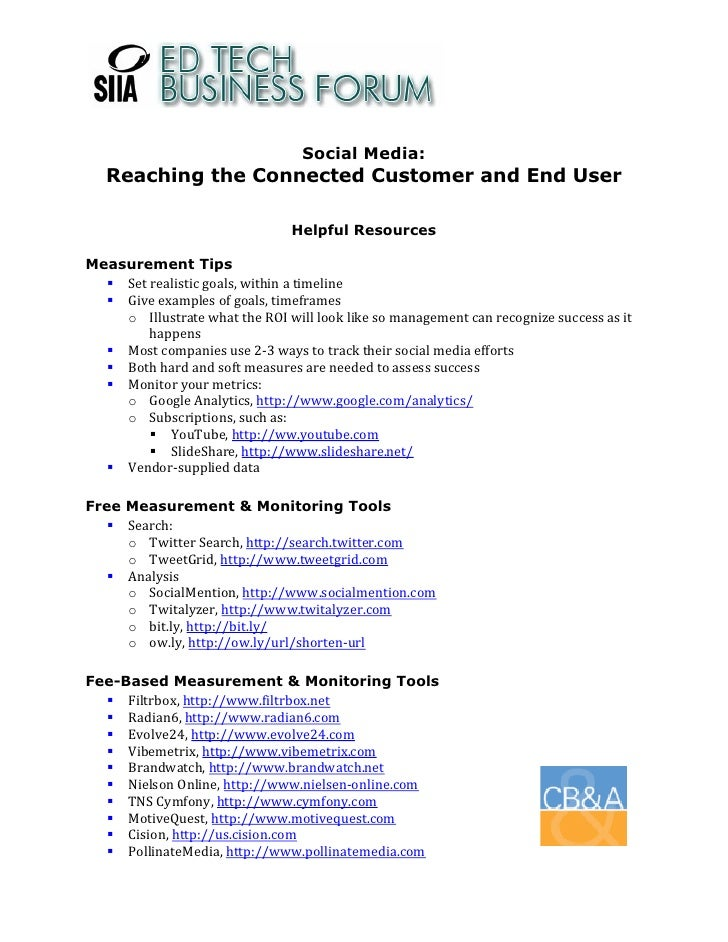 Social Media:     Reaching the Connected Customer and End User                                                   Helpful R...