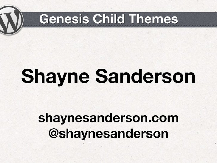 Genesis Child Themes - Emerging Tech Conference 2012