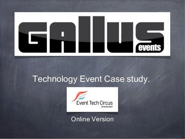 Technology Event Case study.Online Version