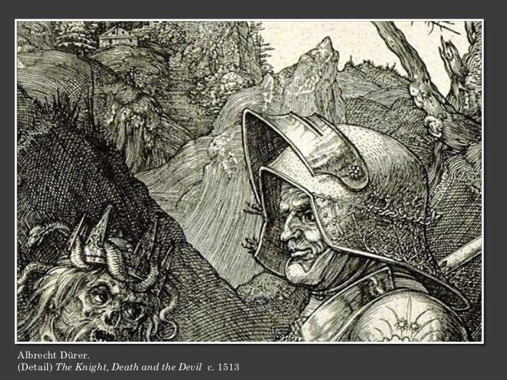 Albrecht Dürer.(Detail) The Knight, Death and the Devil c. 1513