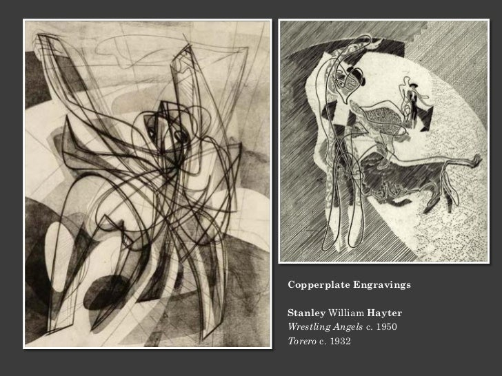 Copperplate EngravingsStanley William HayterWrestling Angels c. 1950Torero c. 1932