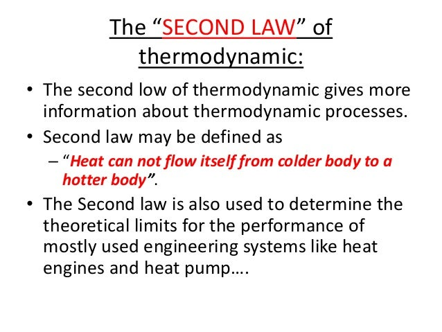 Second Law Of Thermodynamics Pdf
