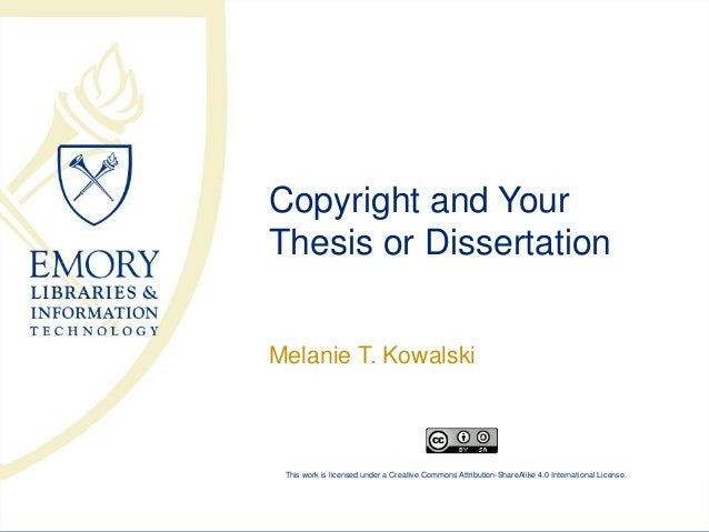 copyright thesis dissertation