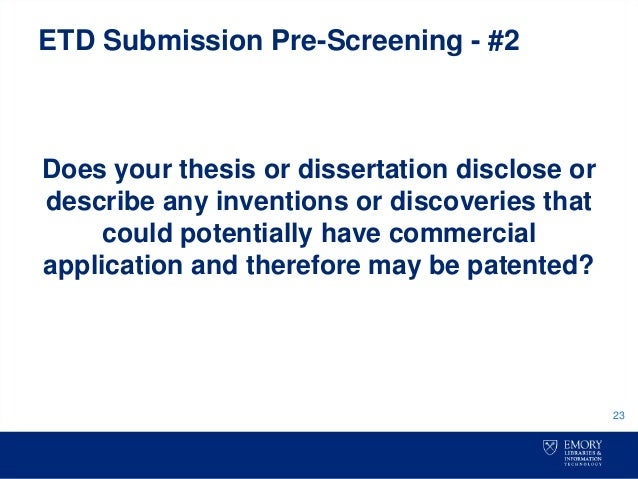electronic thesis dissertation collection Find a dissertation or thesis proquest dissertations and theses fulltext - this database is the world's most comprehensive collection of dissertations and theses, spanning from 1861 to the present day and offering full text for most of the dissertations added since 1997.