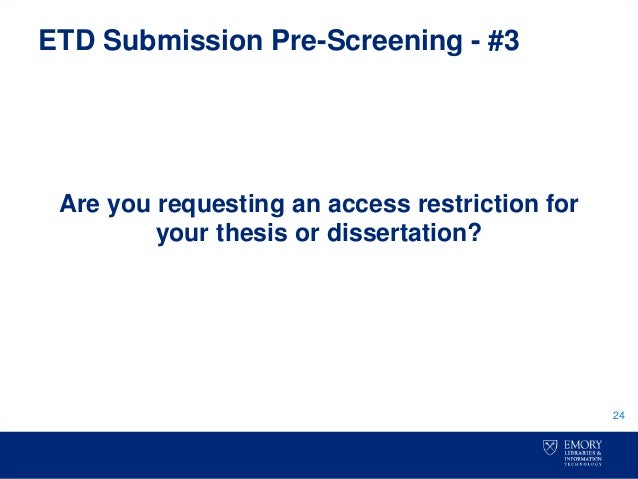 etd dissertation thesis Welcome to the george washington university's electronic theses and dissertations (etd) website this website is a one-stop-shop for all your etd needs it includes information on: we hope you will find this method easy to use and a great tool to make your document instantaneously available to .