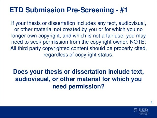 owns copyright dissertation The dissertation author owns the copyright to their dissertation regardless of copyright for a full discussion of your dissertation and copyright.