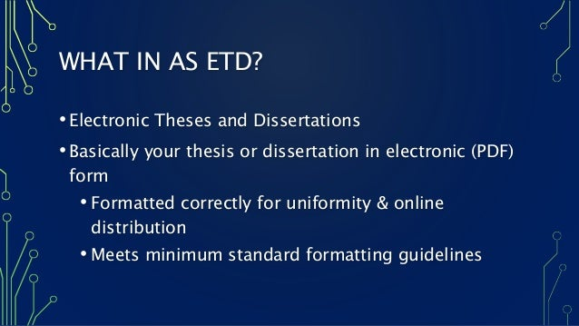 electronic theses and dissertations (etd) repository This collection includes theses and dissertations from the university of louisville it is not exhaustive since most paper theses and dissertations have not been digitized.