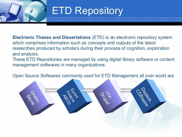 electronic thesis and dissertation etd Our etd workshops are offered once per semester and have two focuses: thesis and dissertation preparation in the early stages including forming a committee and selecting a topic.