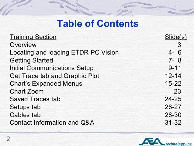 ETDR PC Vision Training Slide 2