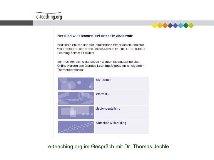 e-teaching.org im Gespräch mit Dr. Thomas Jechle