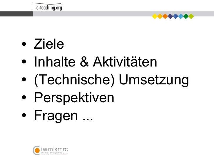 E-teaching Präsenation Slide 2