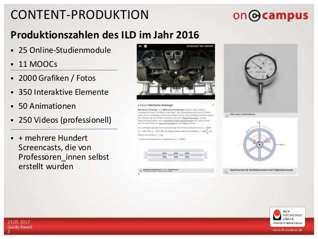 Contentproduktion - wie entstehen digitale Bildungsmaterialien an Hochschulen? (Slides: Guido Kwast) Slide 3