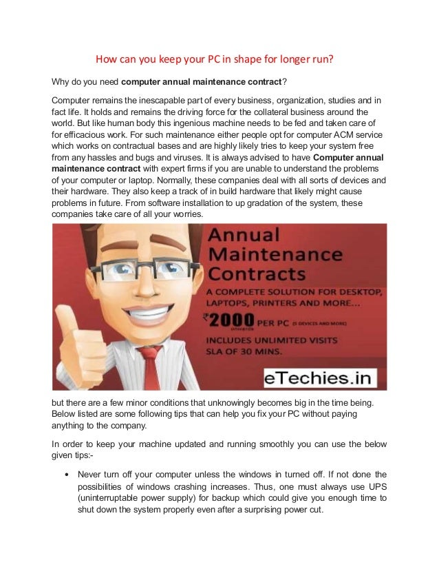 Best Computer Annual Maintenance Contract Services