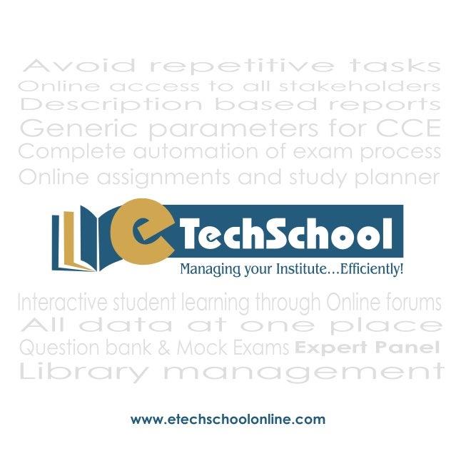 _ l lg Ll l J 9 : _i_Li : ii  A Managing your Institute.  . . Efficientlyl  .  r .  l|   www. etechschoo| online. com