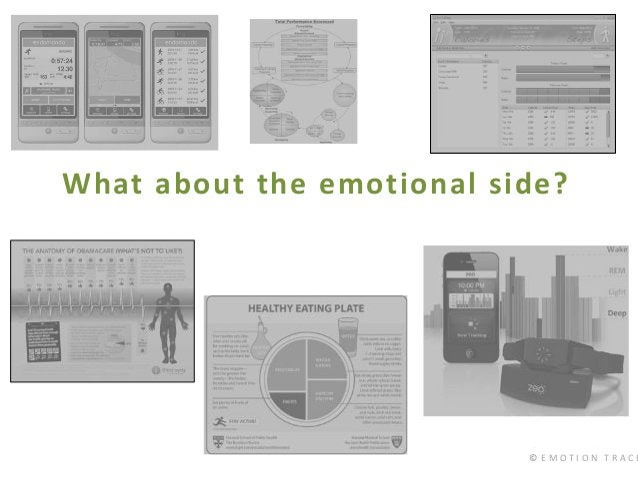 © E M O T I O N T R A C K What about the emotional side?
