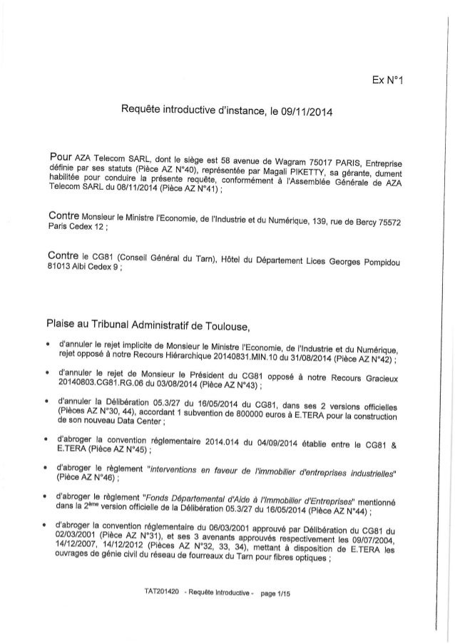 E Tera : recours déposé au tribunal administratif
