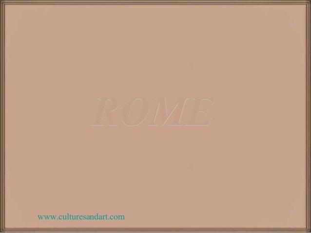 ROMEwww.culturesandart.com