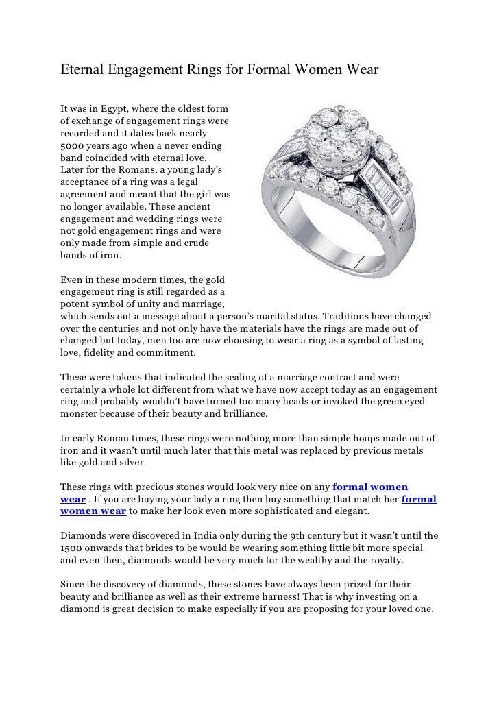 Eternal Engagement Rings For Formal Women Wear