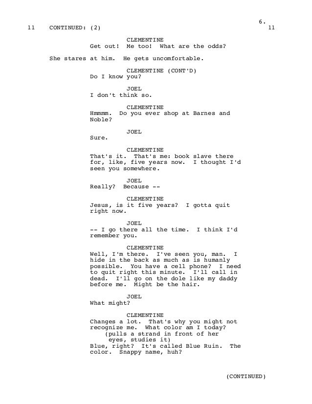 Eternal Sunshine Of The Spotless Mind Shooting