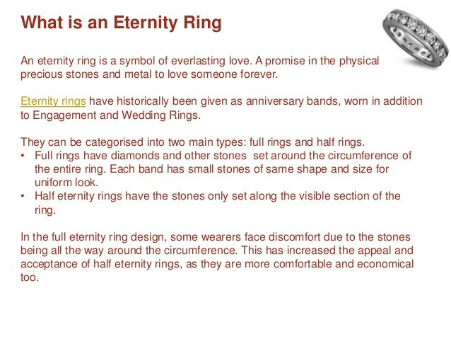 Meaning Types of Eternity Rings