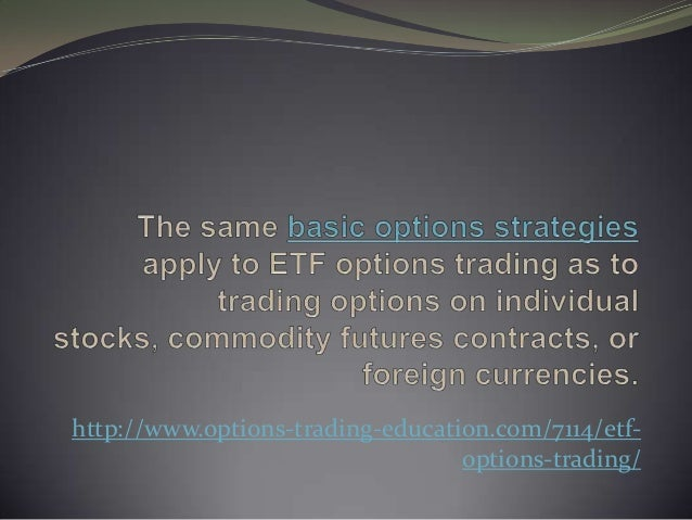 Gold etf options trading