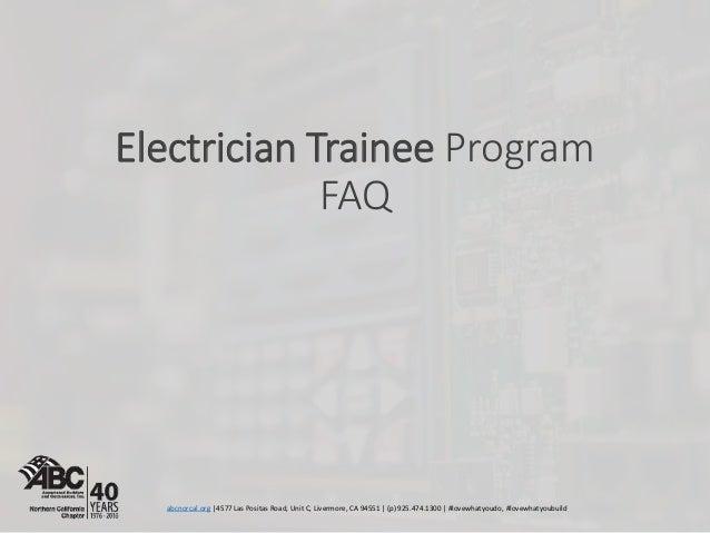 electrician trainee faq