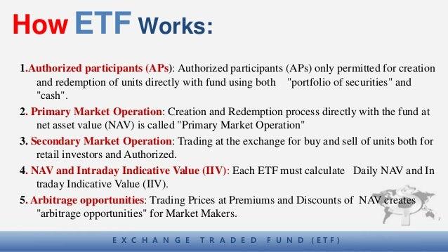 Etf cash trading system