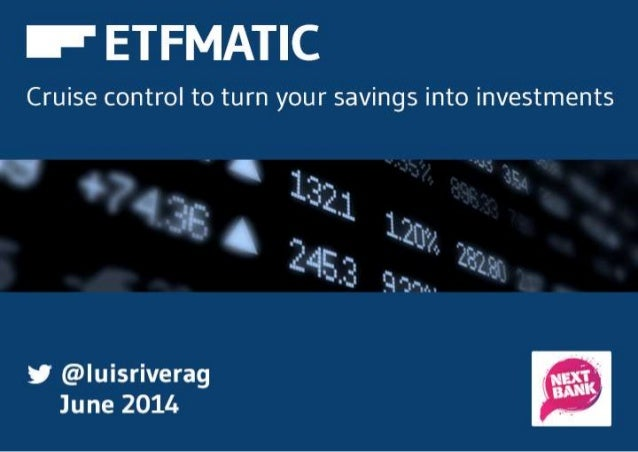 Are you investing in ETFs?