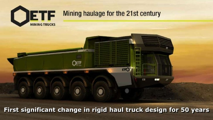 First significant change in rigid haul truck design for 50 years