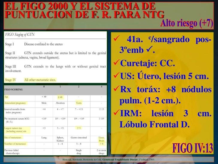 EL FIGO 2000 Y EL SISTEMA DEPUNTUACION DE F. R. PARA NTG                                                           41a. c...