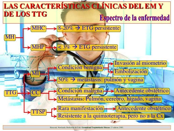 LAS CARACTERÍSTICAS CLÍNICAS DEL EM YDE LOS TTG      MHC             8-20%  ETG persistenteMH      MHP             < 3% ...